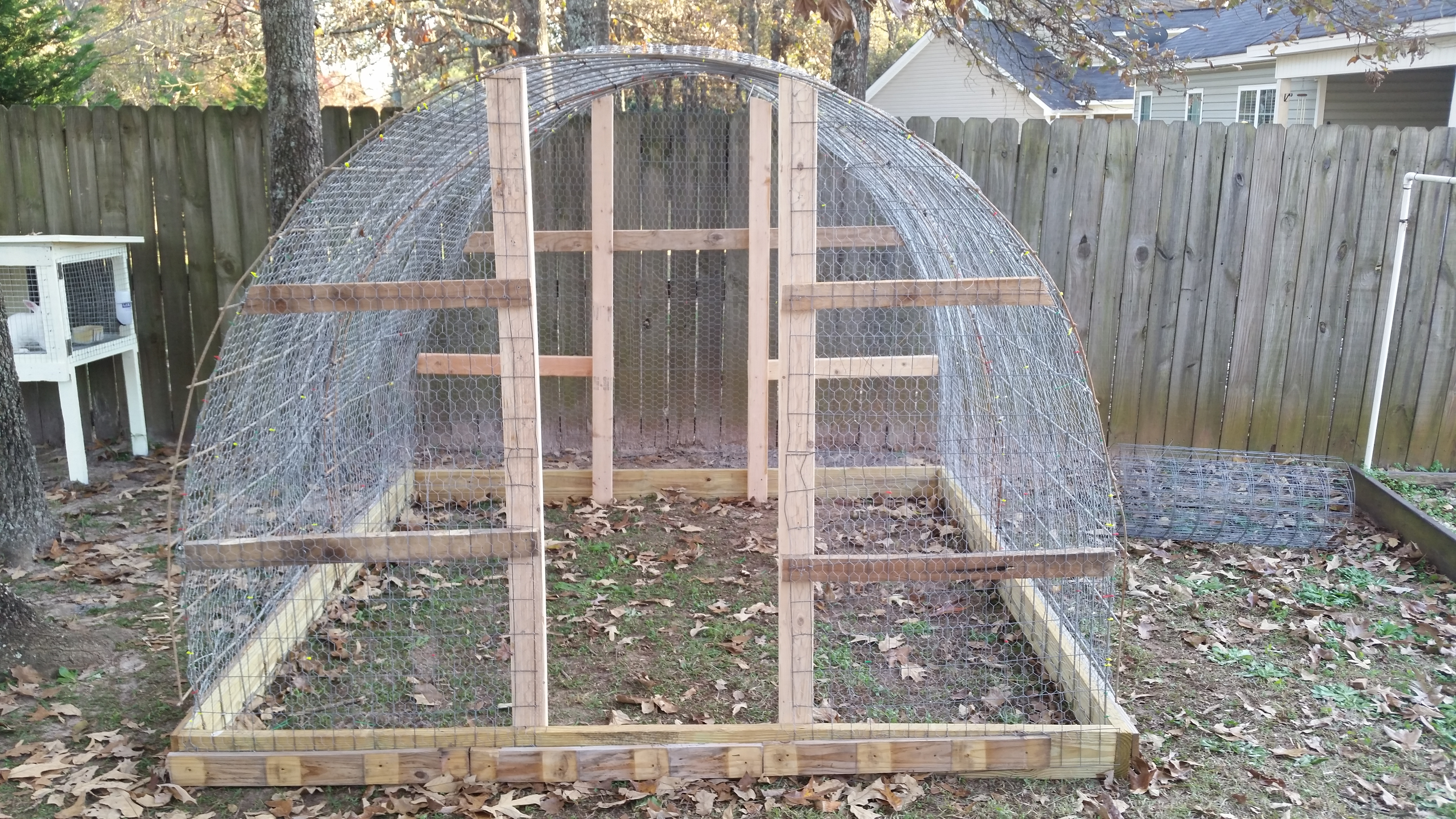 How to build a quail hoop house subdivision survival for Building a quail house